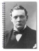 Young Winston Churchill Spiral Notebook