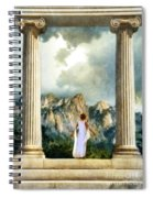 Young Woman As A Classical Woman Of Ancient Egypt Rome Or Greece Spiral Notebook