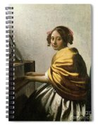 Young Woman At A Virginal Spiral Notebook