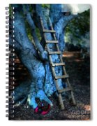 Young Woman Climbing A Tree Spiral Notebook