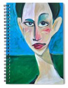 Young Woman Green Field Spiral Notebook
