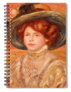 Young Woman In A Blue Hat Spiral Notebook