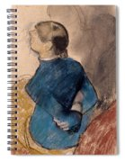 Young Woman In Blue Spiral Notebook