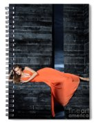 Young Woman In Long Orange Dress Spiral Notebook