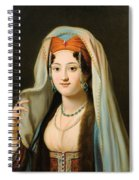 Young Woman In Traditional Ottoman Clothes Spiral Notebook