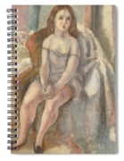 Young Woman In White Chemise Spiral Notebook