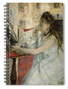 Young Woman Powdering Her Face Spiral Notebook