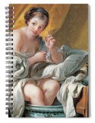 Young Woman Taking A Foot Bath Spiral Notebook