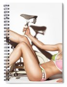 Young Woman Wearing A Swimsuit Spiral Notebook