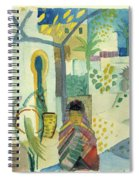 Young Woman With A Horse And A Donkey Spiral Notebook