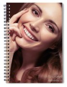 Young Woman With A Natural Smile Spiral Notebook