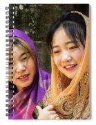 Young Women Silk Scarves 01 Spiral Notebook