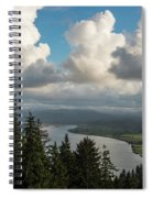 Youngs Bay And Clouds Spiral Notebook