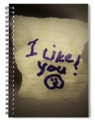 Your 1st Love Note Spiral Notebook