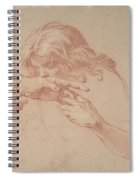 Youth Kissing An Outstretched Hand Spiral Notebook
