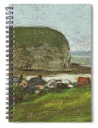 Yport And The Falaise D'aval Spiral Notebook