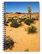 Yucca And Desert Primrose In The Valley Of Fire Spiral Notebook