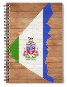 Yukon Rustic Map On Wood Spiral Notebook