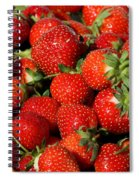 Yummy Fresh Strawberries Spiral Notebook