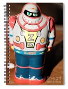 Z-bot Robot Toy Spiral Notebook