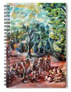 Thanks-giving In A Sacred Shrine Spiral Notebook
