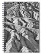 Zabriske Point Death Valley  Bw6398 Spiral Notebook