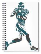 Zach Ertz Philadelphia Eagles Pixel Art 1 Spiral Notebook