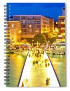 Zadar Colorful Blue Evening View Spiral Notebook