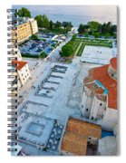 Zadar Forum Square Ancient Architecture Aerial View Spiral Notebook