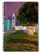Zadar Historic Square Evening View Spiral Notebook