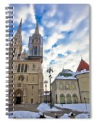 Zagreb Cathedral Winter Daytime View Spiral Notebook