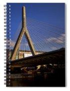 Zakim Bridge And Boston Garden At Sunset Spiral Notebook