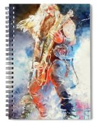 Zakk Wylde - Watercolor 09 Spiral Notebook