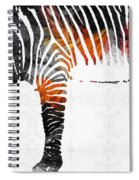 Zebra Black White And Red Orange By Sharon Cummings  Spiral Notebook
