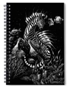 Zebra Hippocampus Spiral Notebook