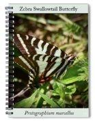 Zebra Swallowtail Butterfly Spiral Notebook