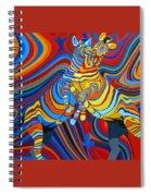 Zebradelic Spiral Notebook