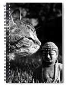Zen Cat Black And White- Photography By Linda Woods Spiral Notebook
