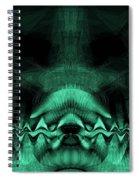 Zen Chaos / Teal  Spiral Notebook