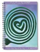 Zen Heart Labyrinth Sky Spiral Notebook