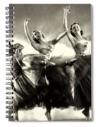Ziegfeld Model  Dancers By Alfred Cheney Johnston Black And White Ballet Spiral Notebook