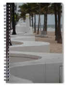 Zig Zag At The Beach Spiral Notebook
