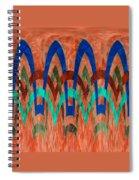 Zig Zag Pattern On Orange Spiral Notebook