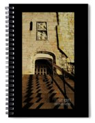 Zig Zag Shadows At Clifford's Tower, York, England Spiral Notebook