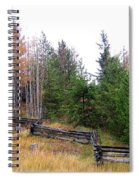 Zigzag Rail Fence Spiral Notebook