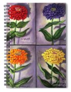 Zinnias 4 Spiral Notebook