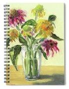 Zinnias In Vase Spiral Notebook