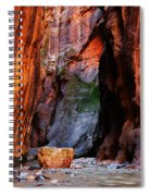 Zion Narrows With Boulder Spiral Notebook