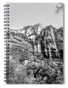 Zion National Park Utah Black White  Spiral Notebook