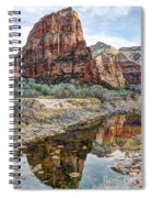Zions National Park Angels Landing - Digital Painting Spiral Notebook